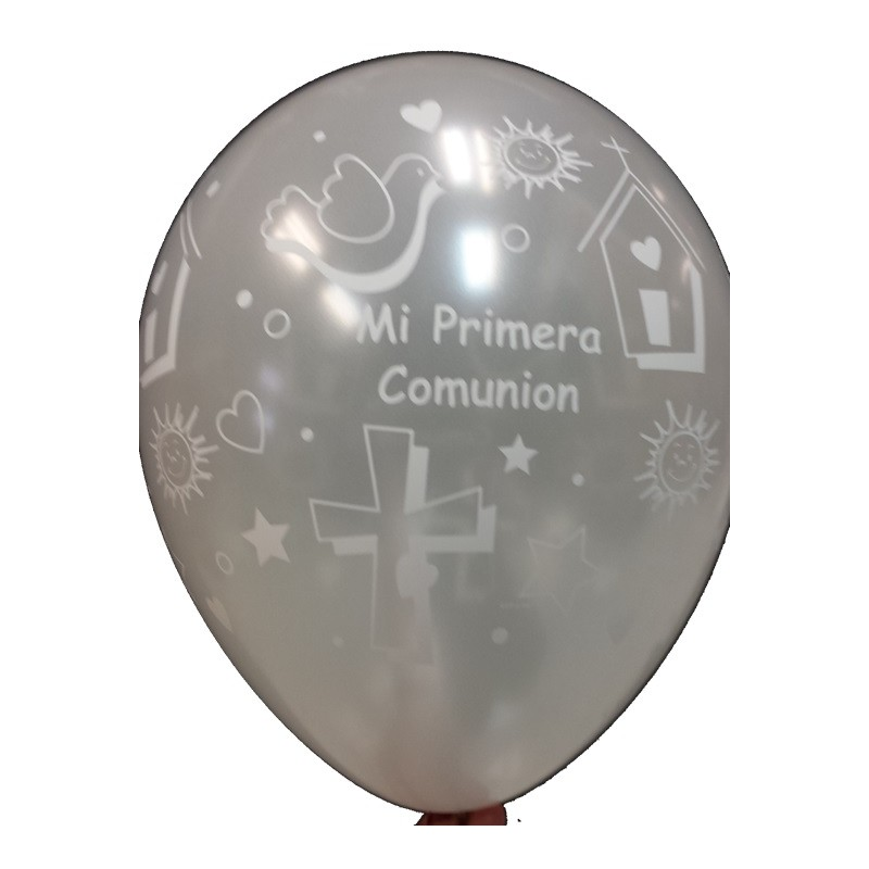 "Globos Comunión 11""-28cm Qualatex (10)"