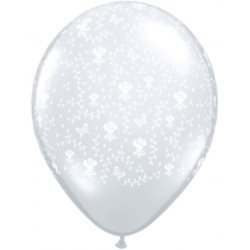 "Globos flores 11""-28cm Qualatex (25u)"