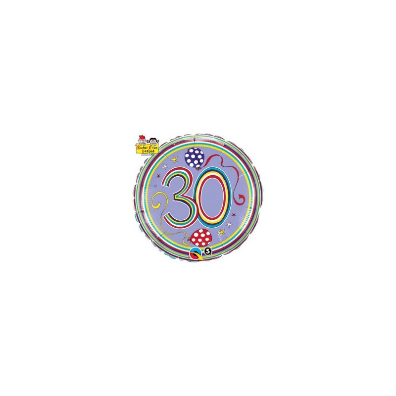 Globo 30 años Rachel foil