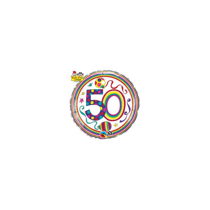 Globo 50 años Rachel foil