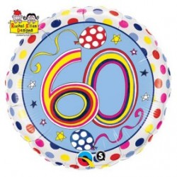 Globo 60 años Rachel foil