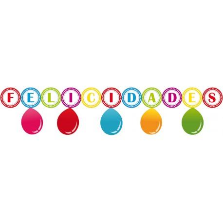 Guirnalda Felicidades con globos