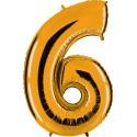 Globo Número 6 de foil TG 90cm