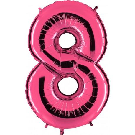 Globo Número 8 de foil TG 90cm