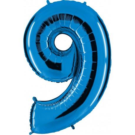 Globo Número 9 de foil TG 90cm