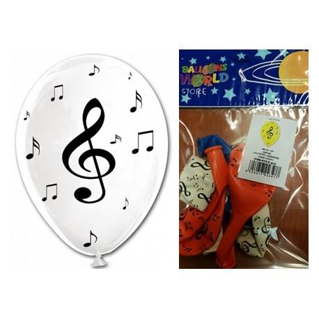 Globos Con Notas Musicales 12 30cm Tg En Globos Para Decoraciones