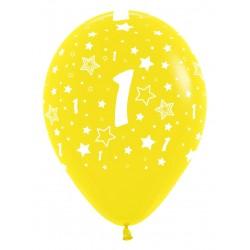 """Globos Número 1 12""""-30cm Sempertex"""