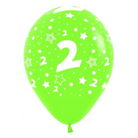 """Globos Número 2 12""""-30cm Sempertex"""