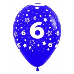 """Globos Número 6 12""""-30cm Sempertex"""