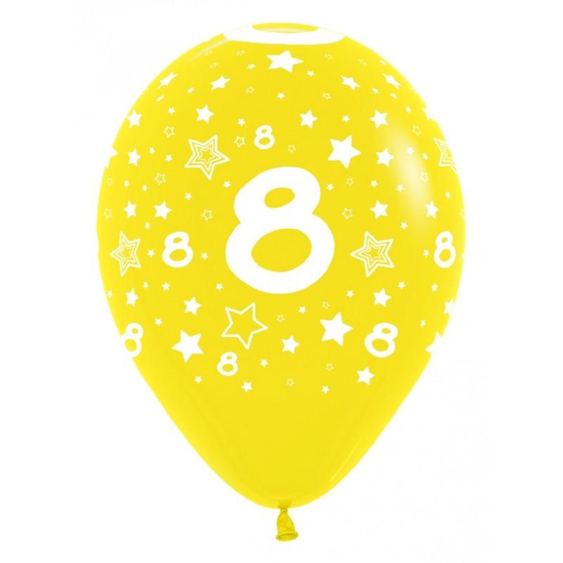 """Globos Número 8 12""""-30cm Sempertex"""