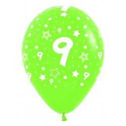 """Globos Número 9 12""""-30cm Sempertex"""