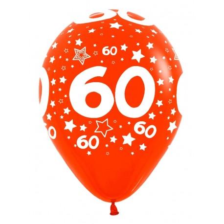 """Globos número 60 12""""-30cm Sempertex"""