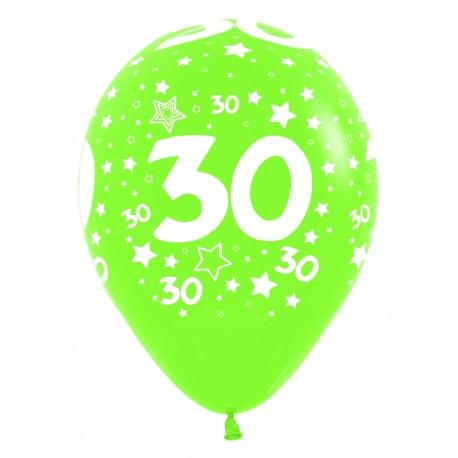 """Globos Número 30 12""""-30cm Sempertex"""