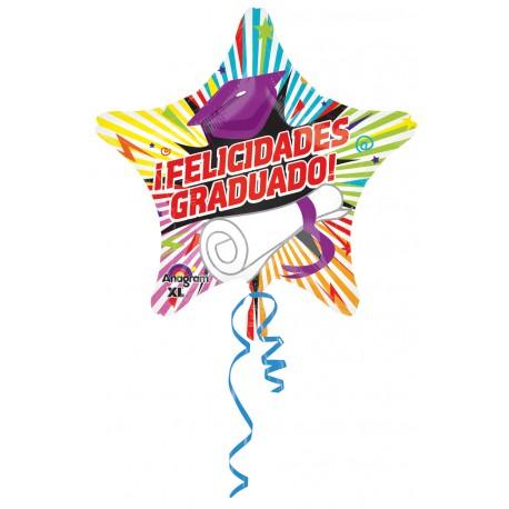 """Globo Felicidades Graduado 18""""-45cm"""