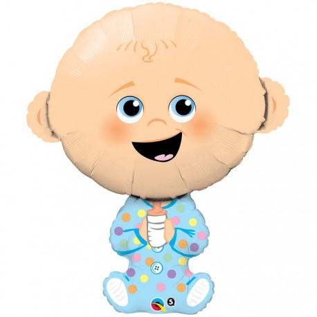 Globo bebe niño bibe foil