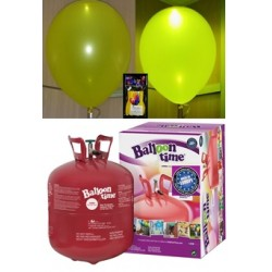 Pack globos LED AMARILLO TG grande
