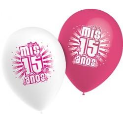"Globos Mis 15 de 11""-28cm TG"