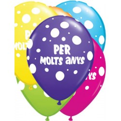 """Globus Per Molts Anys 11""""-28cm Qualatex (25)"""