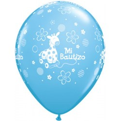 "Globos bautizo azul 11""-28cm Qualatex"
