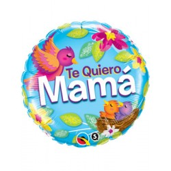 "Globo Te quiero Mamá 18""-45cm Qualatex"