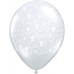 "Globos flores 16""-42cm Qualatex"