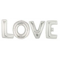 PACK LETRAS LOVE PLATA