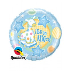 "Globo Es una niña 9""-23cm Qualatex"