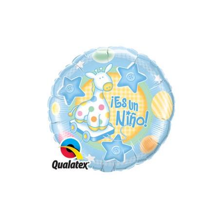 """Globo Es una niña 9""""-23cm Qualatex"""
