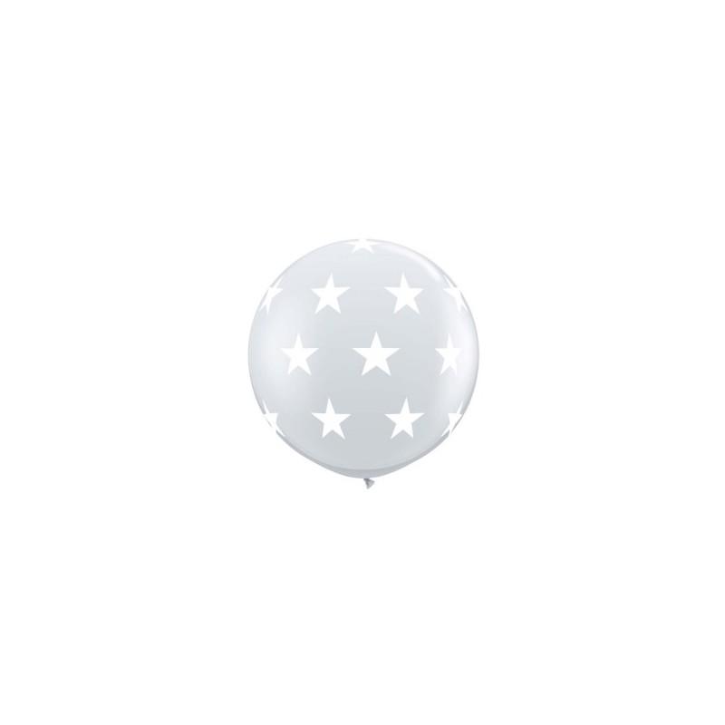 Globos gigantes con estrellas 3'-90cm Qualatex