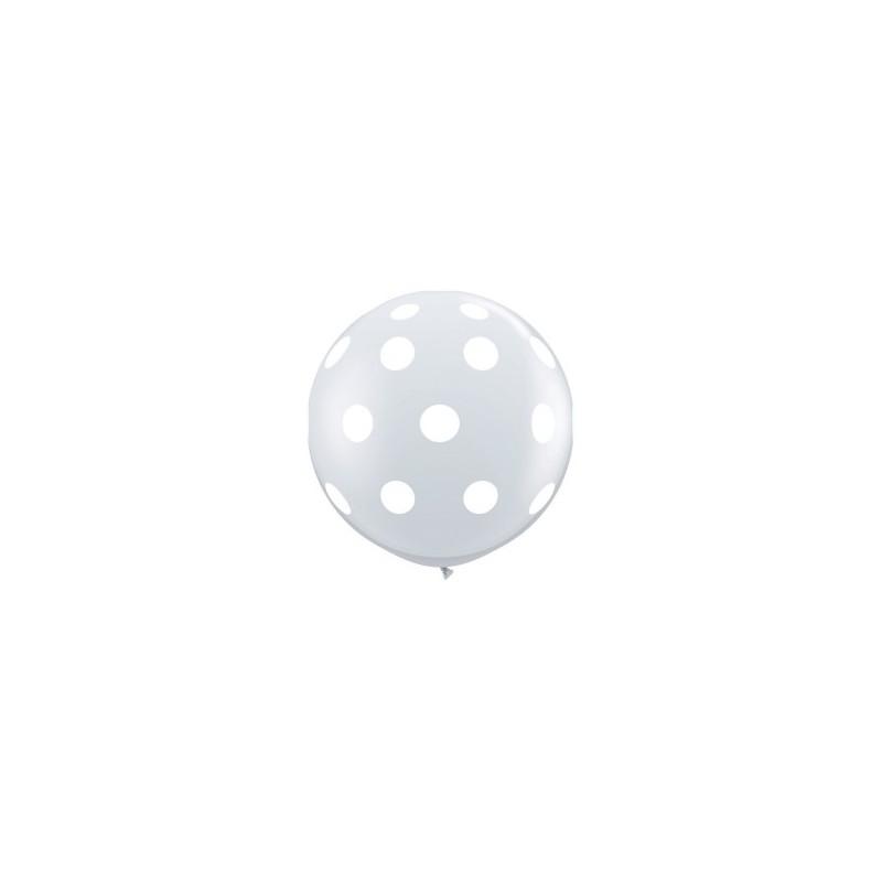 Globos gigantes con lunares 3'-90cm Qualatex