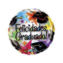 """Globo Felicidades Graduado 18"""" Qualatex"""