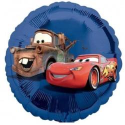 Globo Cars Redondo Foil azul