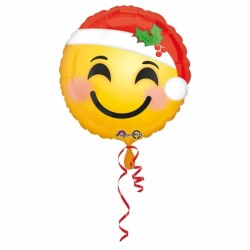 Globo emoticono feliz SANTA 45cm foil