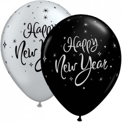 "Globos Happy New Year 11""-28cm Qualatex"