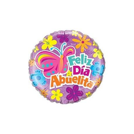 Globo Feliz día Abuelita foil