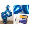 Adhesivo 1 cara globos foil