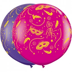 Globos carnaval 3'-90cm Qualatex