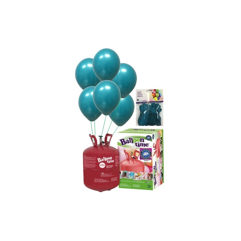 PACK globos ECO turquesa Mediana Plus