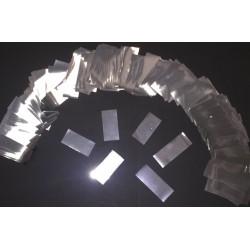 Cañón Confeti rectangular metalizado 250gr