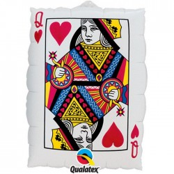 Globo carta Reina Corazones foil