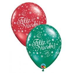 "Globos Navidad RENO 11""-28cm Qualatex"
