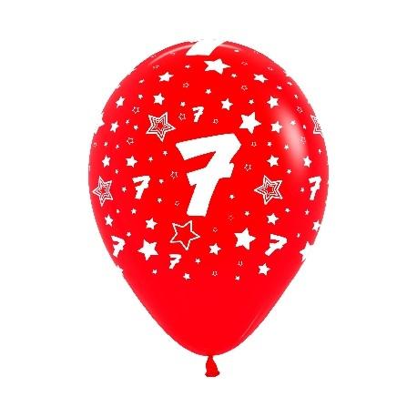 """Globos Número 7 12""""-30cm Sempertex"""