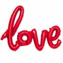 GLOBO LETRAS LOVE ROJO FOIL