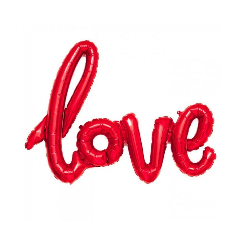 GLOBO LETRAS LOVE ROJO