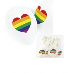 """Globos Corazón Multicolor 11""""-28cm TG"""