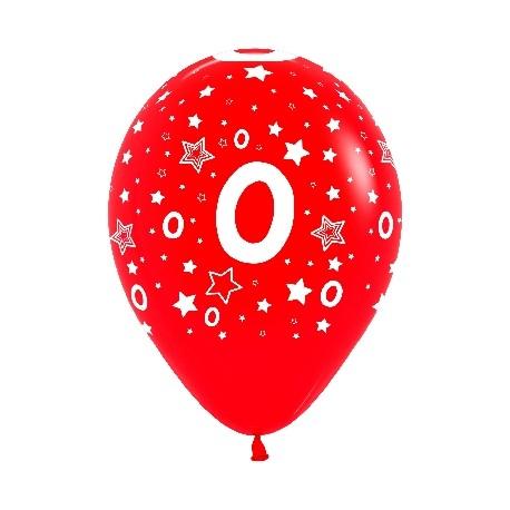 """Globos Número 0 12""""-30cm Sempertex"""