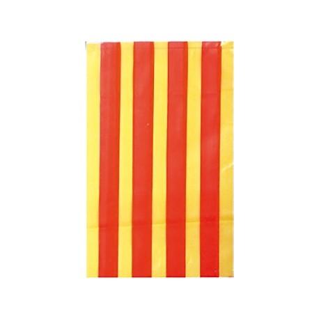 Bandera catalana de plástico 50m
