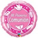 "Globo Primera Comunión PALOMA 18""-45cm Qualatex"