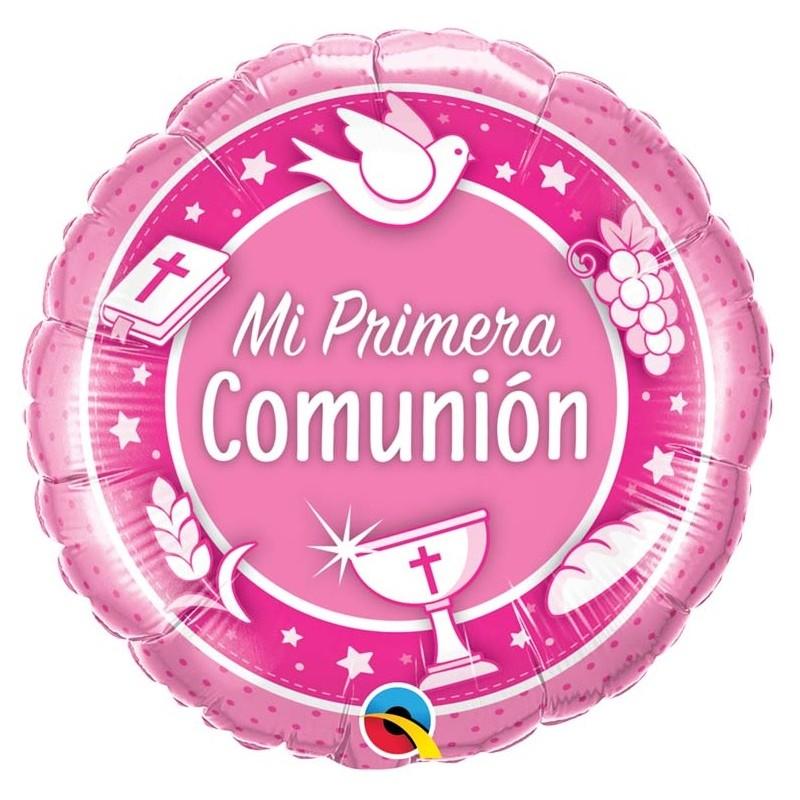 Globo Mi primera comunión foil