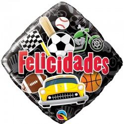 Globo felicidades deportes foil